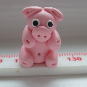 Pig Polymer Clay Bead / Charm Price From:
