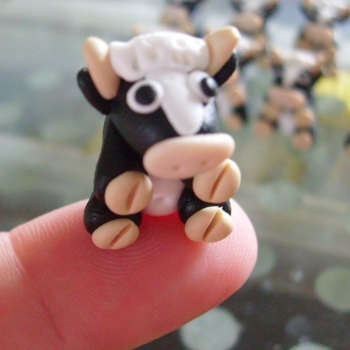 Cow Polymer Clay Bead / Charm Price From:
