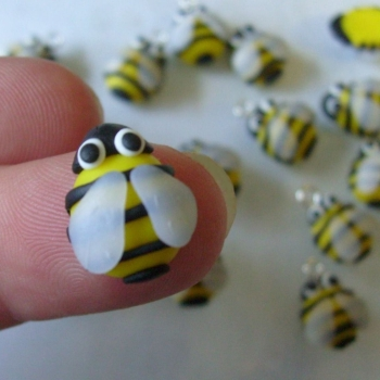 Bumble Bee Polymer Clay Charm Price From: