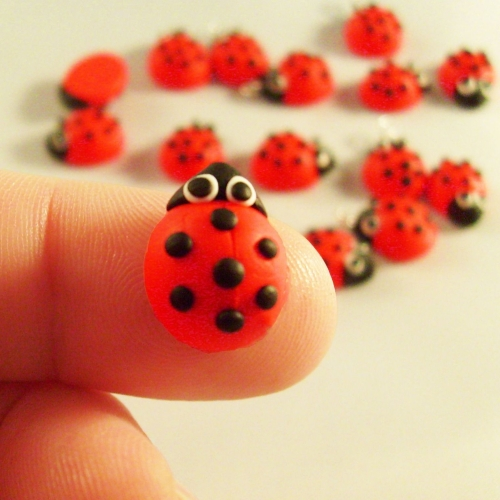 Ladybird Polymer Clay Bead / Charm Price From: