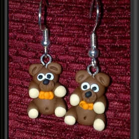 Bright Beadz Fun Novelty Teddy Bear Earrings