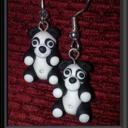 Bright Beadz Fun Novelty Panda Earrings