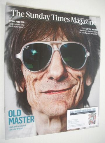 <!--2013-09-08-->The Sunday Times magazine - Ronnie Wood cover (8 September