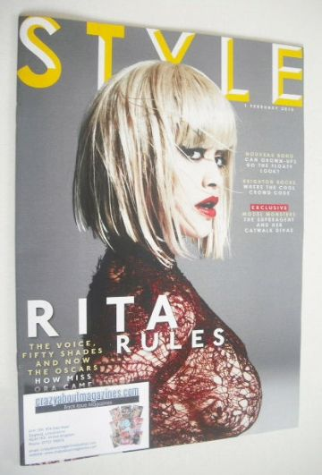 <!--2015-02-01-->Style magazine - Rita Ora cover (1 February 2015)