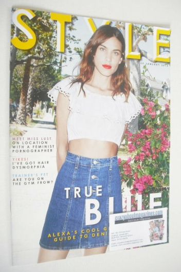 <!--2015-01-25-->Style magazine - Alexa Chung cover (25 January 2015)