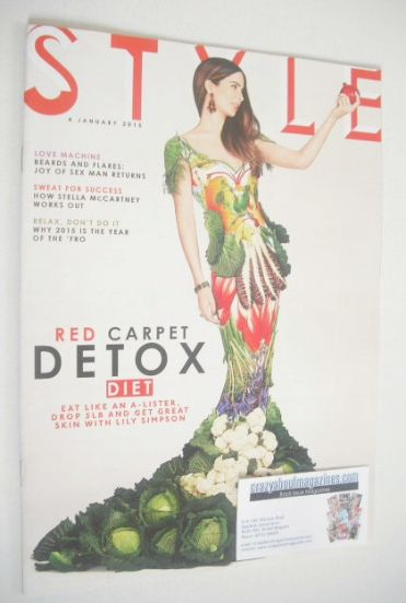 <!--2015-01-04-->Style magazine - Red Carpet Detox Diet cover (4 January 20
