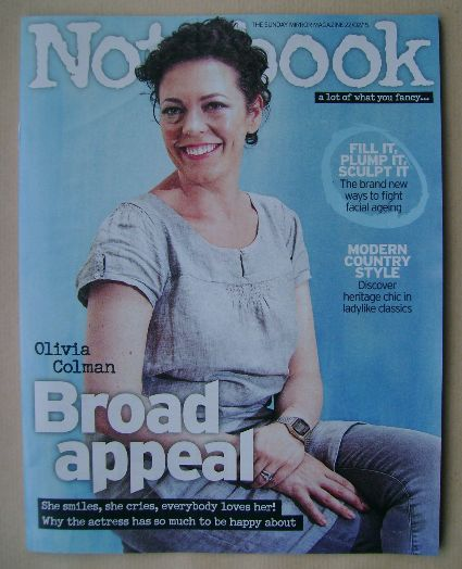<!--2015-02-22-->Notebook magazine - Olivia Colman cover (22 February 2015)