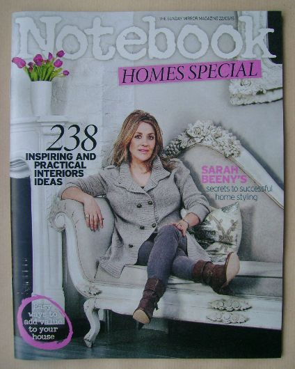 <!--2015-03-22-->Notebook magazine - Sarah Beeny cover (22 March 2015)