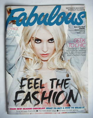 <!--2010-03-07-->Fabulous magazine - Taylor Momsen cover (7 March 2010)