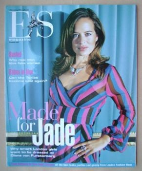 <!--2003-10-03-->Evening Standard magazine - Jade Jagger cover (3 October 2003)