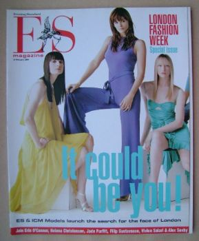 <!--2004-02-13-->Evening Standard magazine - London Fashion Week cover (13 February 2004)