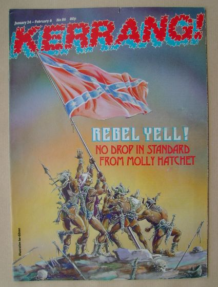<!--1985-01-24-->Kerrang magazine - Rebel Yell! cover (24 January 1985 - Is