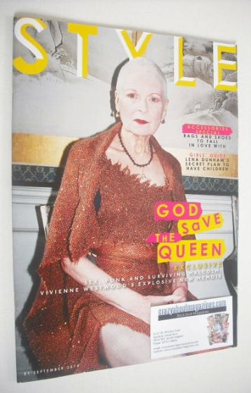 <!--2014-09-21-->Style magazine - Vivienne Westwood cover (21 September 201