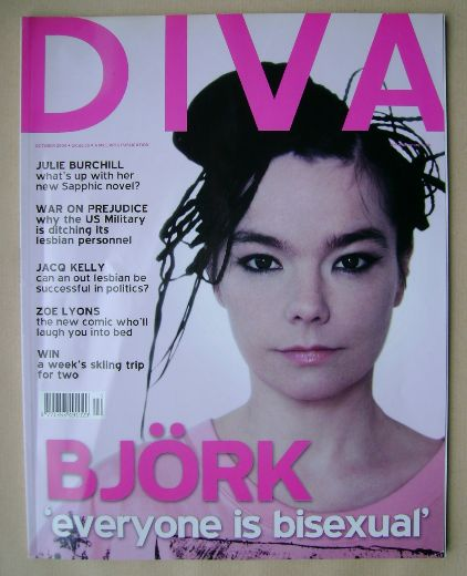 <!--2004-10-->Diva magazine - Bjork cover (October 2004 - Issue 101)