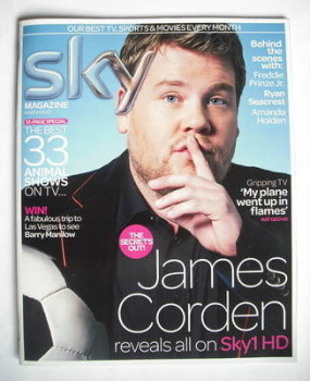 Sky TV magazine - March 2010 - James Corden cover
