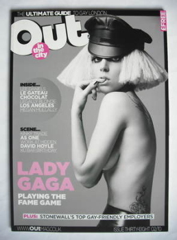 Out magazine - Lady Gaga cover (February 2010)