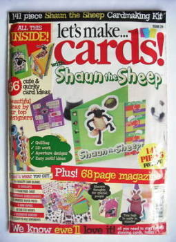 Let's Make Cards Shaun the Sheep Cardmaking Kit (2009 - No. 29)