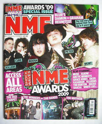 <!--2009-03-07-->NME magazine - NME Awards 2009 cover (7 March 2009)