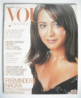 <!--2004-09-19-->You magazine - Parminder Nagra cover (19 September 2004)