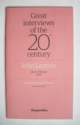 The Guardian booklet - Great Interviews Of The 20th Century - John Lennon