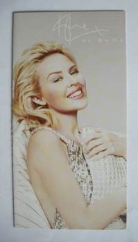 At Home bed linen fold-out brochure - Kylie Minogue (2008)