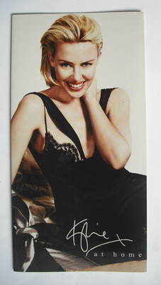 At Home bed linen fold-out brochure - Kylie Minogue (2009)