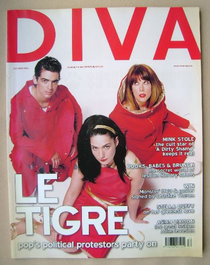 <!--2004-12-->Diva magazine - Le Tigre cover (December 2004 - Issue 103)