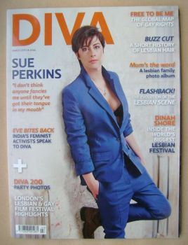 Diva magazine - Sue Perkins cover (March 2013 - Issue 201)