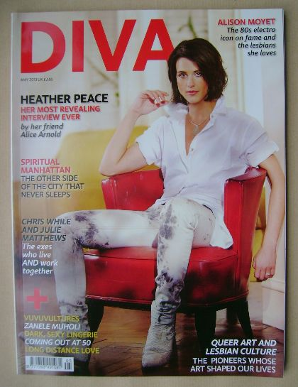 <!--2013-05-->Diva magazine - Heather Peace cover (May 2013 - Issue 203)