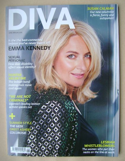 <!--2013-06-->Diva magazine - Emma Kennedy cover (June 2013 - Issue 204)