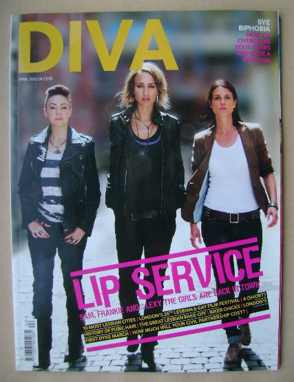 <!--2012-04-->Diva magazine - Lip Service cover (April 2012 - Issue 190)