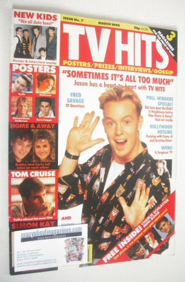 <!--1990-03-->TV Hits magazine - March 1990 - Jason Donovan cover (Issue 7)