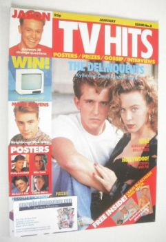TV Hits magazine - January 1990 - Charlie Schlatter and Kylie Minogue cover (Issue 5)
