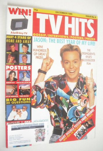 <!--1989-12-->TV Hits magazine - December 1989 - Jason Donovan cover (Issue