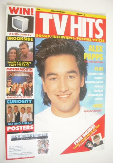 <!--1989-11-->TV Hits magazine - November 1989 - Alex Papps cover (Issue 3)