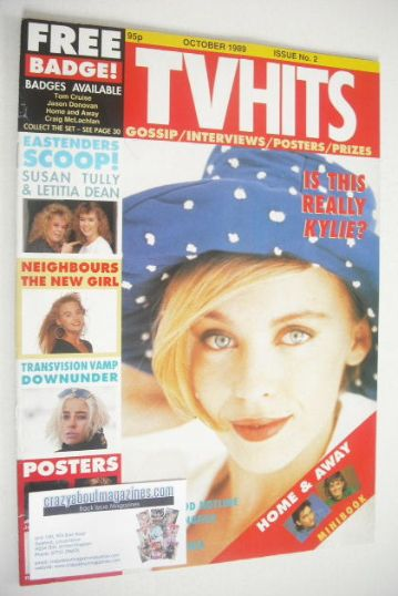 <!--1989-10-->TV Hits magazine - October 1989 - Kylie Minogue cover (Issue