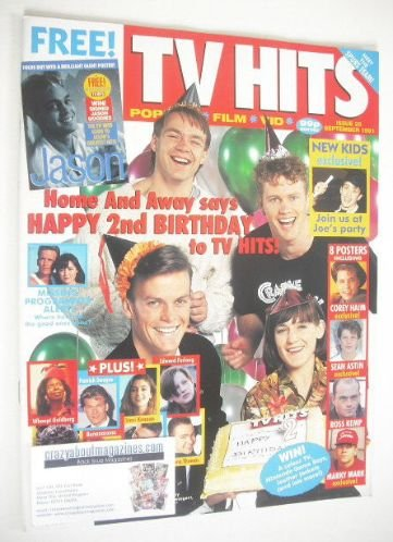 <!--1991-09-->TV Hits magazine - September 1991 - Home And Away cover (Issu