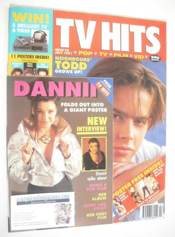 <!--1991-07-->TV Hits magazine - July 1991 - Kristian Schmid cover (Issue 2