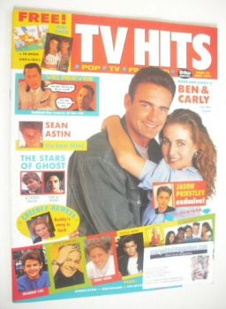 TV Hits magazine - June 1991 - Sharyn Hodgson and Julian McMahon cover (Issue 22)