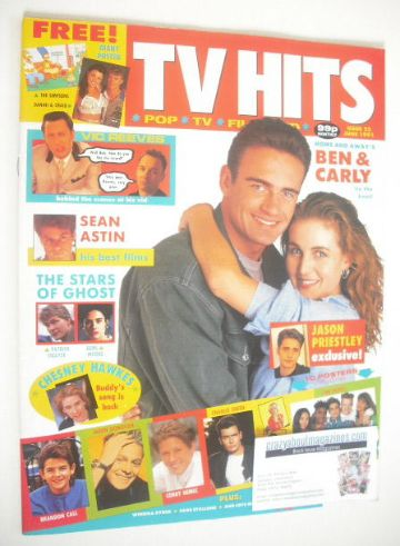 <!--1991-06-->TV Hits magazine - June 1991 - Sharyn Hodgson and Julian McMa