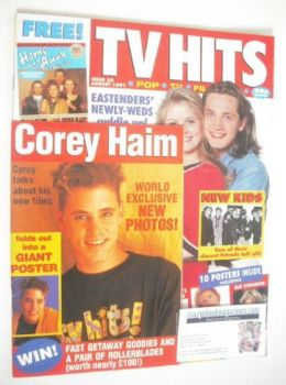 TV Hits magazine - August 1991 - Sid Owen and Danniella Westbrook cover (Issue 24)
