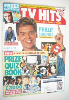 TV Hits magazine - January 1991 - Phillip Schofield cover (Issue 17)
