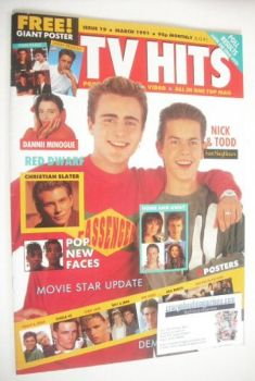 TV Hits magazine - March 1991 - Mark Stevens and Kristian Schmid cover (Issue 19)