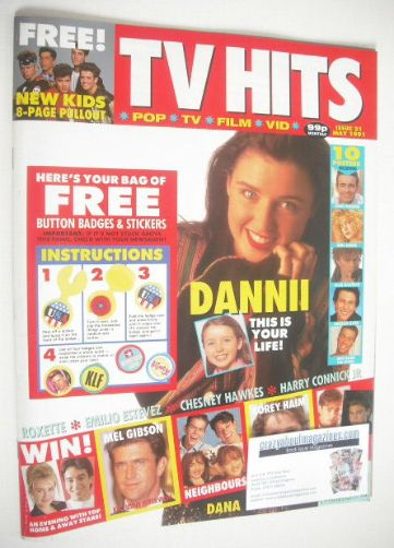 <!--1991-05-->TV Hits magazine - May 1991 - Dannii Minogue cover (Issue 21)
