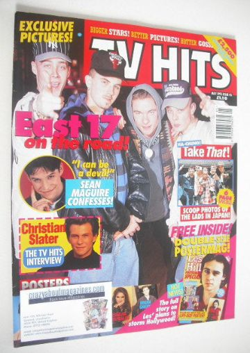 <!--1993-05-->TV Hits magazine - May 1993 - East 17 cover (Issue 45)