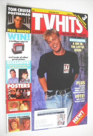<!--1989-09-->TV Hits magazine - September 1989 - Jason Donovan cover (Issu