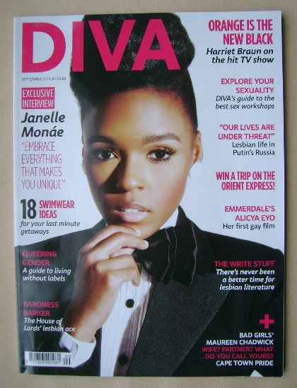 <!--2013-09-->Diva magazine - Janelle Monae cover (September 2013 - Issue 2