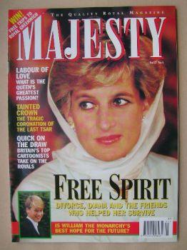 Majesty magazine - Princess Diana cover (May 1996 - Volume 17 No 5)