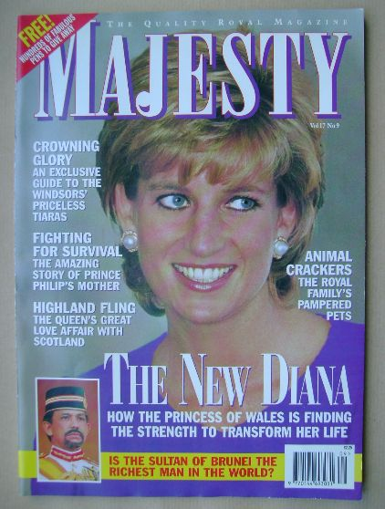 <!--1996-09-->Majesty magazine - Princess Diana cover (September 1996 - Vol
