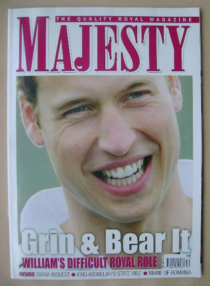 <!--2007-12-->Majesty magazine - Prince William cover (December 2007 - Volu